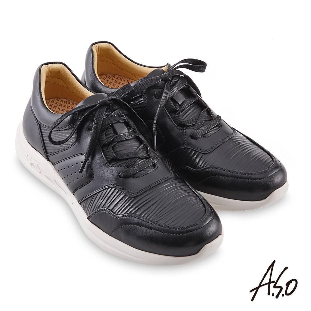 A.S.O 機能休閒 勁步健康異材綁帶休閒鞋