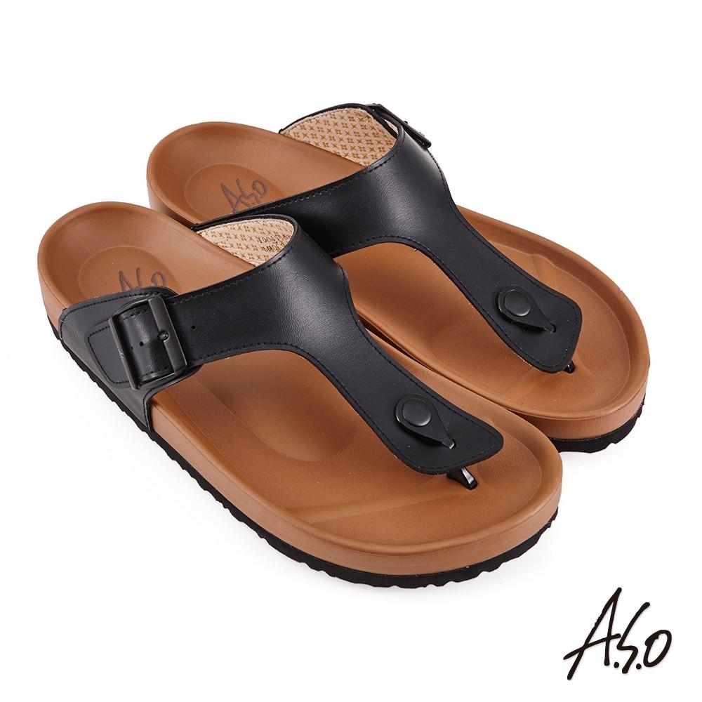 A.S.O 足健康黏帶EVA涼鞋