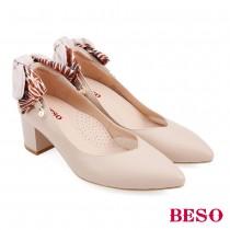 BESO國民小資女百變實穿蝴蝶結中跟鞋