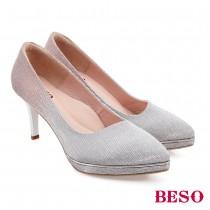BESO幸福花嫁質感閃色漸層尖頭高跟鞋