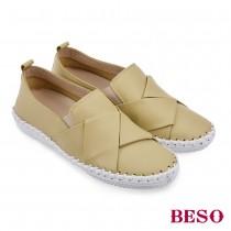 BESO跳躍圓舞曲俐落摺邊直套休閒鞋