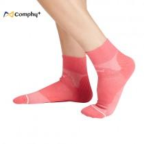 【康飛加】運動透氣短襪-胭脂紅