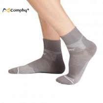【康飛加】運動透氣短襪-灰色