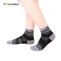 【康飛加】流線五趾短襪-紳士灰